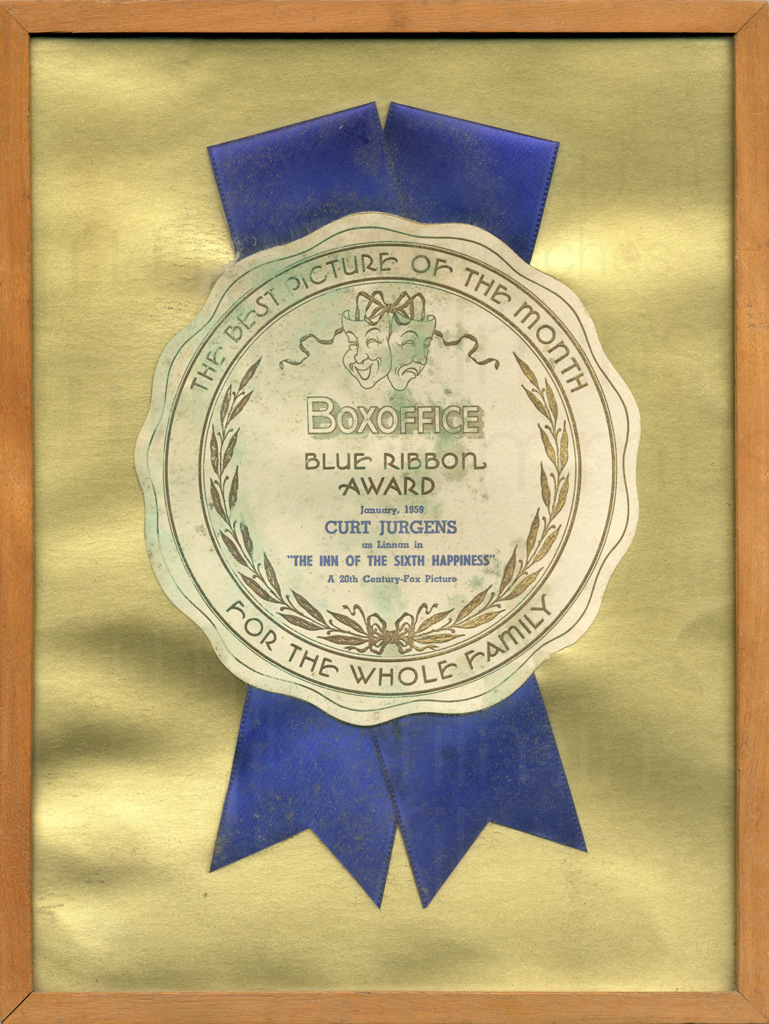 THE INN OF THE SIXTH HAPPINESS (1958) Blue Ribbon Award