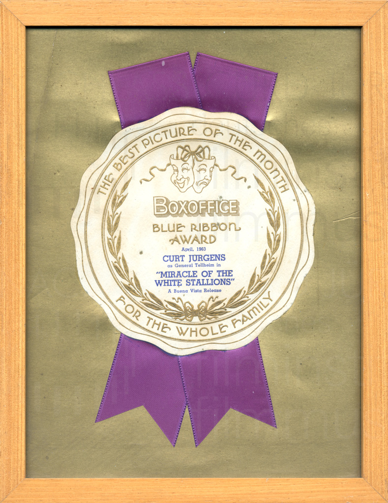 MIRACLE OF THE WHITE STALLIONS (1963) Blue Ribbon Award