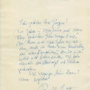 Bobby E. Lüthge an Curd Jürgens. Berlin, 12.4.1960