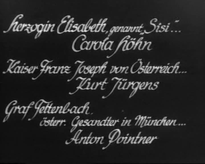 """KÖNIGSWALZER (1935) Erste Nennung in einem Filmvorspann, noch in falscher Schreibweise (""""Kurt"""")"""