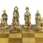 Curd Jürgens' Schachspiel, schwarze Figuren