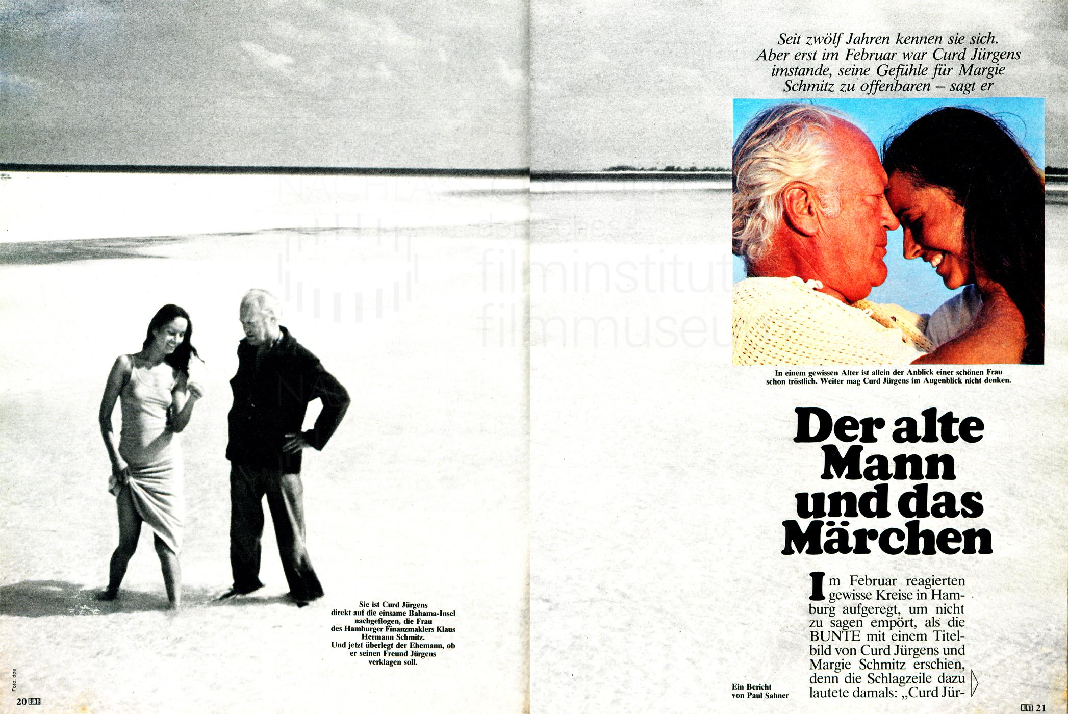 """Bunte: """"Der alte Mann und das Märchen"""", Nr. 20, 1967"""