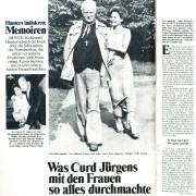 """Bunte: """"Was Curd Jürgens mit den Frauen so alles durchmachte"""", Nr. 37, 1975"""