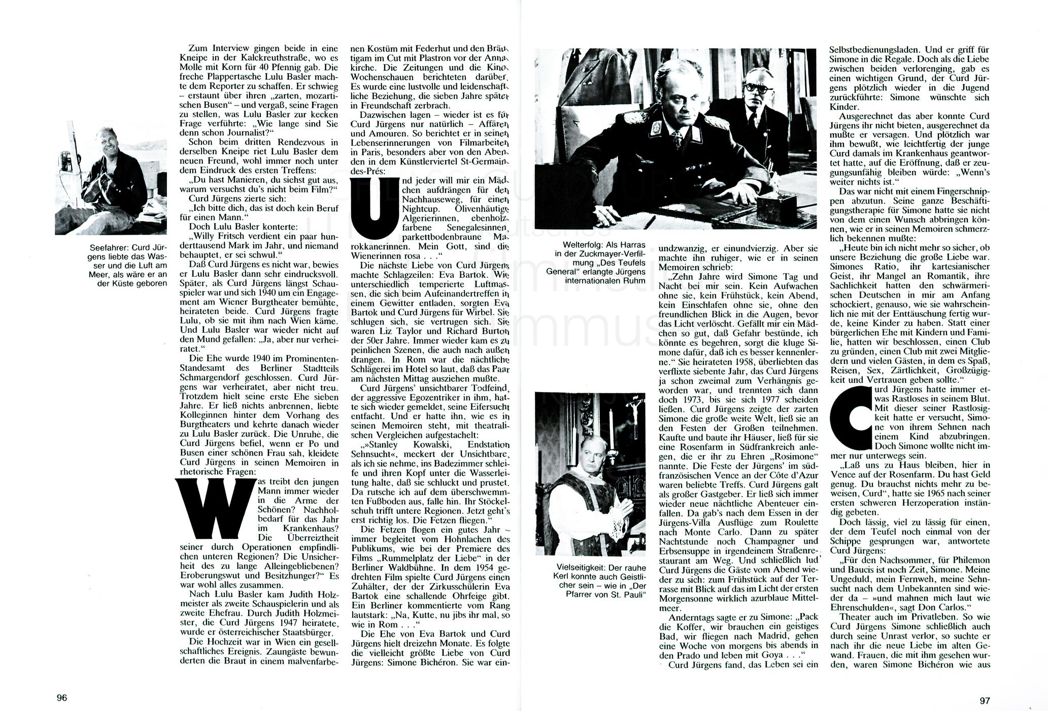 """Bunte Sonderheft """"Curd Jürgens ...und doch irgendwie weise"""", 1983"""