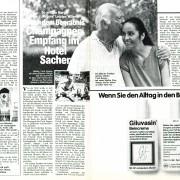 "Das Goldene Blatt: ""Nach dem Begräbnis Champagner Empfang im Hotel Sacher"", Nr. 27, 1982"