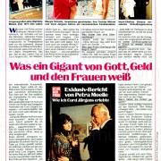 """Echo der Frau: """"Was ein Gigant von Gott, Geld und den Frauen weiß"""", Nr. 29, 1977"""