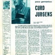 """Fotogramas: """"Un aleman poco germánico: Curd Jurgens"""" Nr. 764, 1963"""