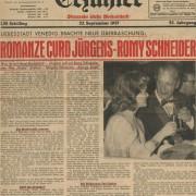 """Erzähler: """"Romanze Curd Jürgens - Romy Schneider"""", 23.9.1957"""