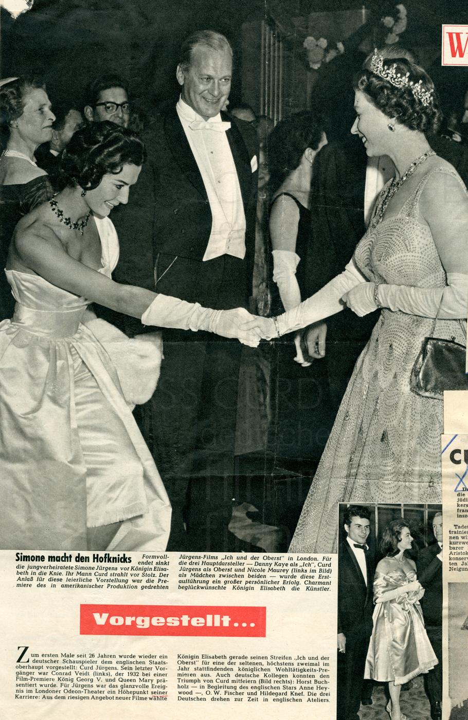 """Weltbild: """"Simone macht den Hofknicks"""", Nr. 24, 1958"""
