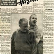 """BILD am SONNTAG: """"Mein Mann, der Herzensbrecher"""", 8.2.1959"""