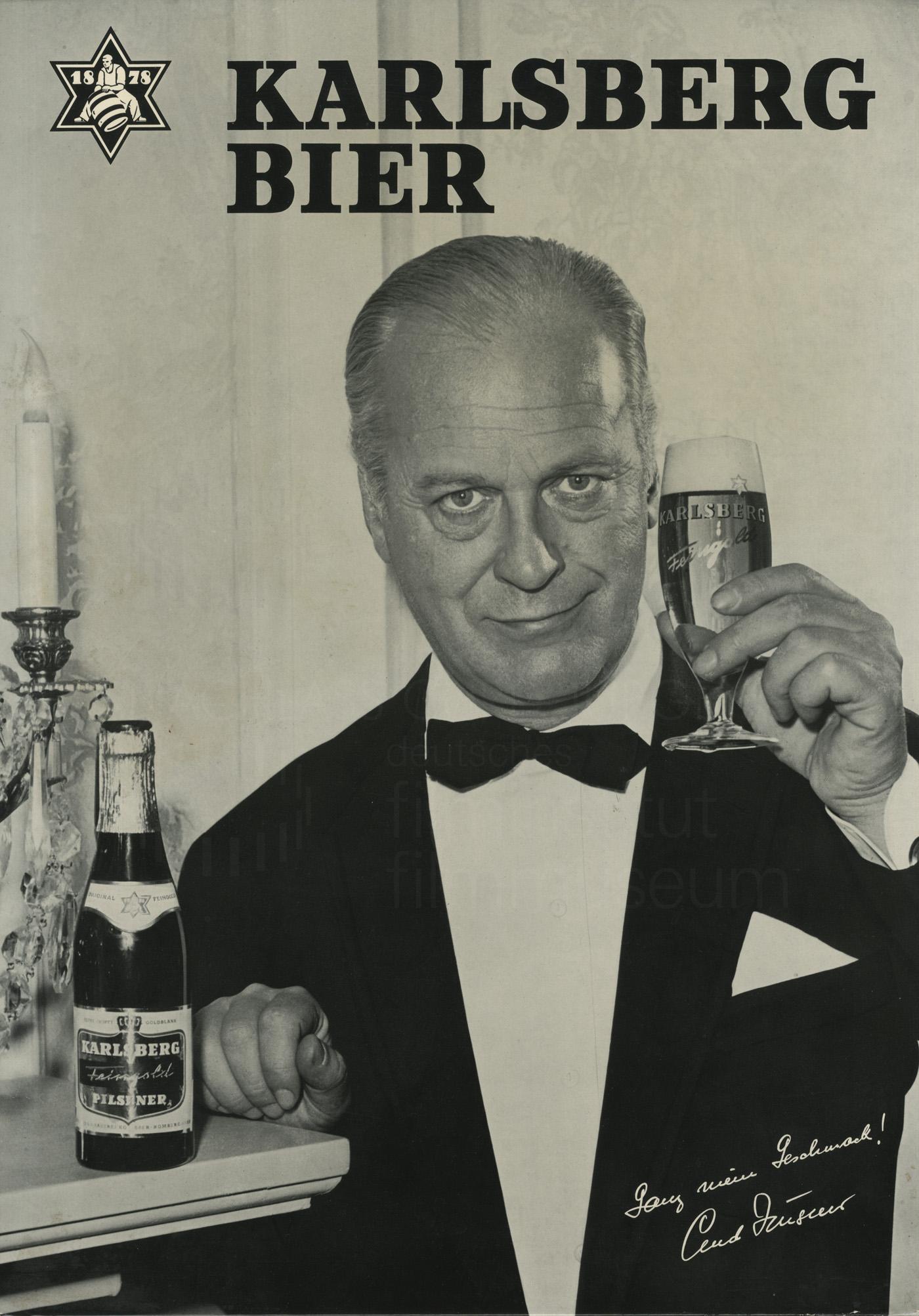 Werbung für Karlsberg Bier, 1960er Jahre