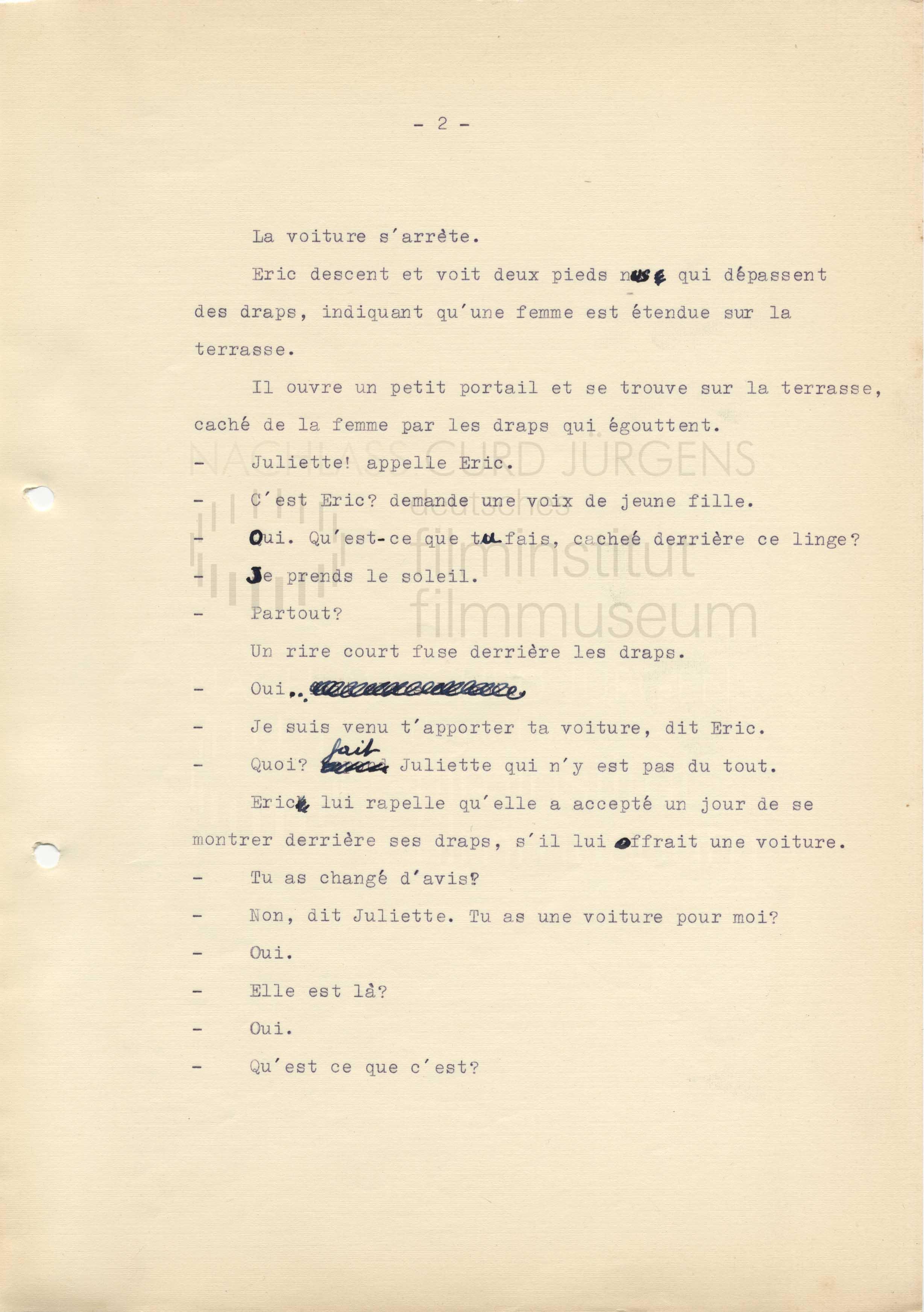 ET DIEU CRÉA LA FEMME (1956) Drehbuch (Auszug) 1