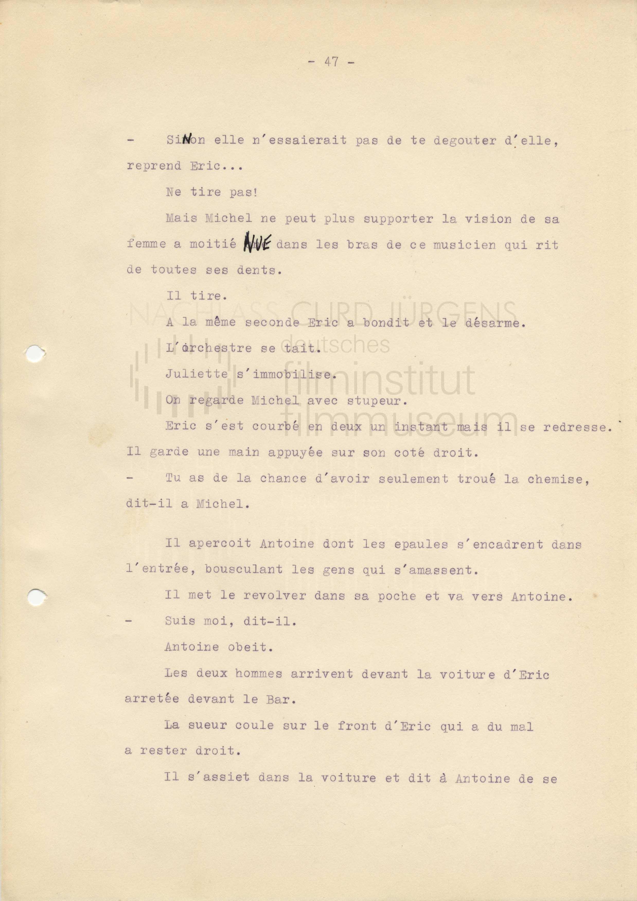 ET DIEU CRÉA LA FEMME (1956) Drehbuch (Auszug) 2