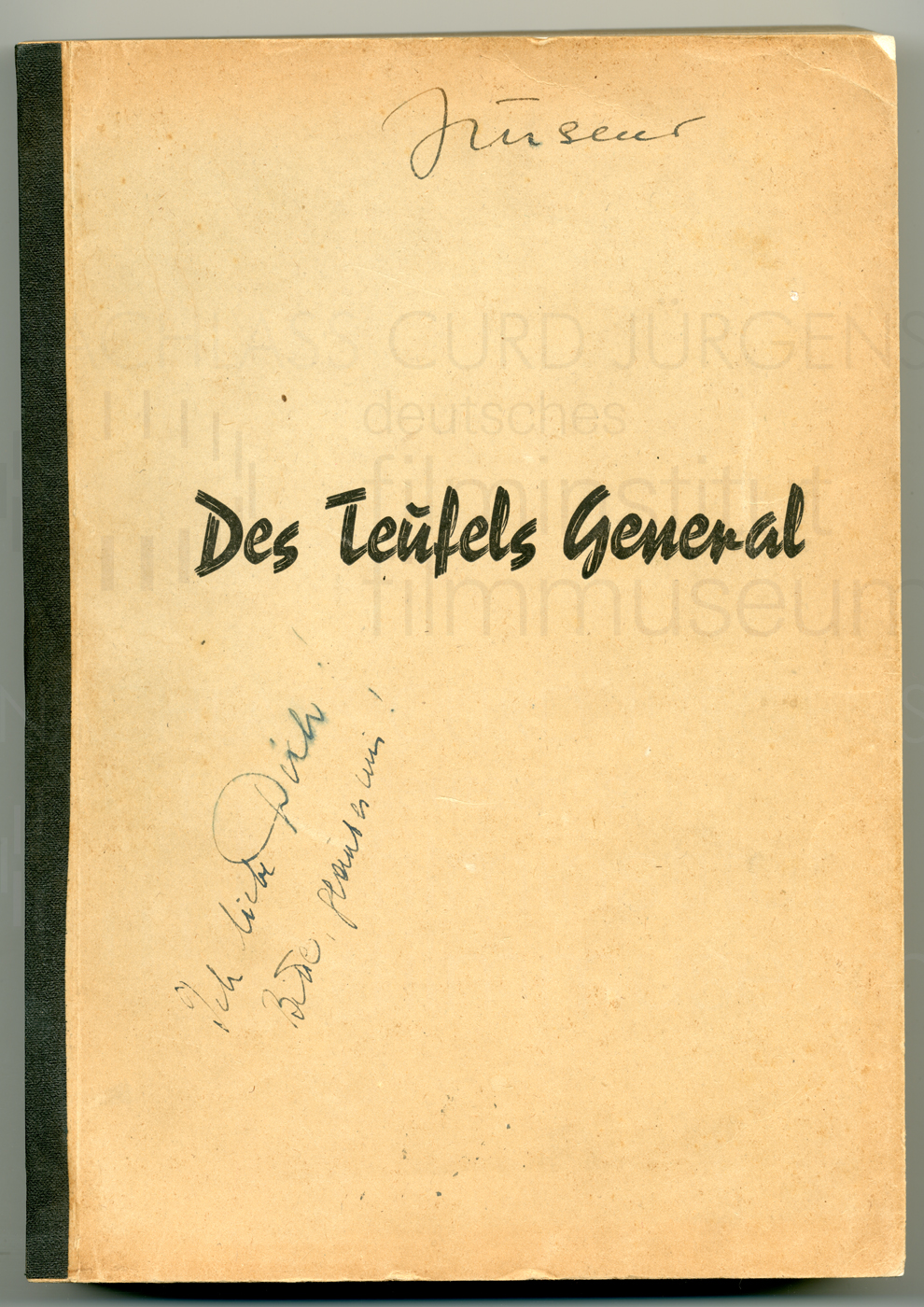 DES TEUFELS GENERAL (1955) Drehbuch (Auszug)