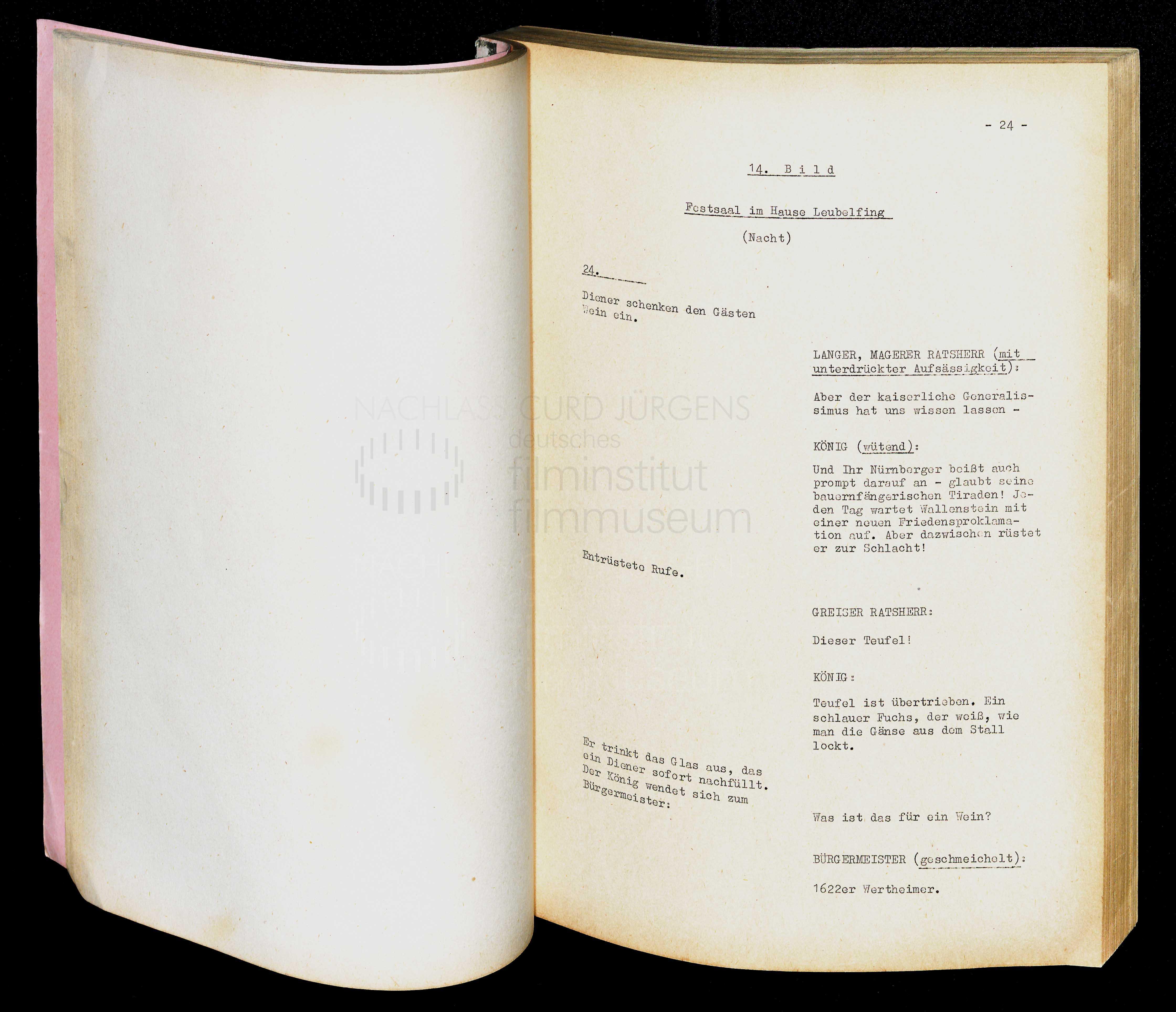 GUSTAV ADOLFS PAGE (1960) Drehbuch (Auszug) 2