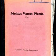 MEINES VATERS PFERDE (1953) Drehbuch (Auszug) 1