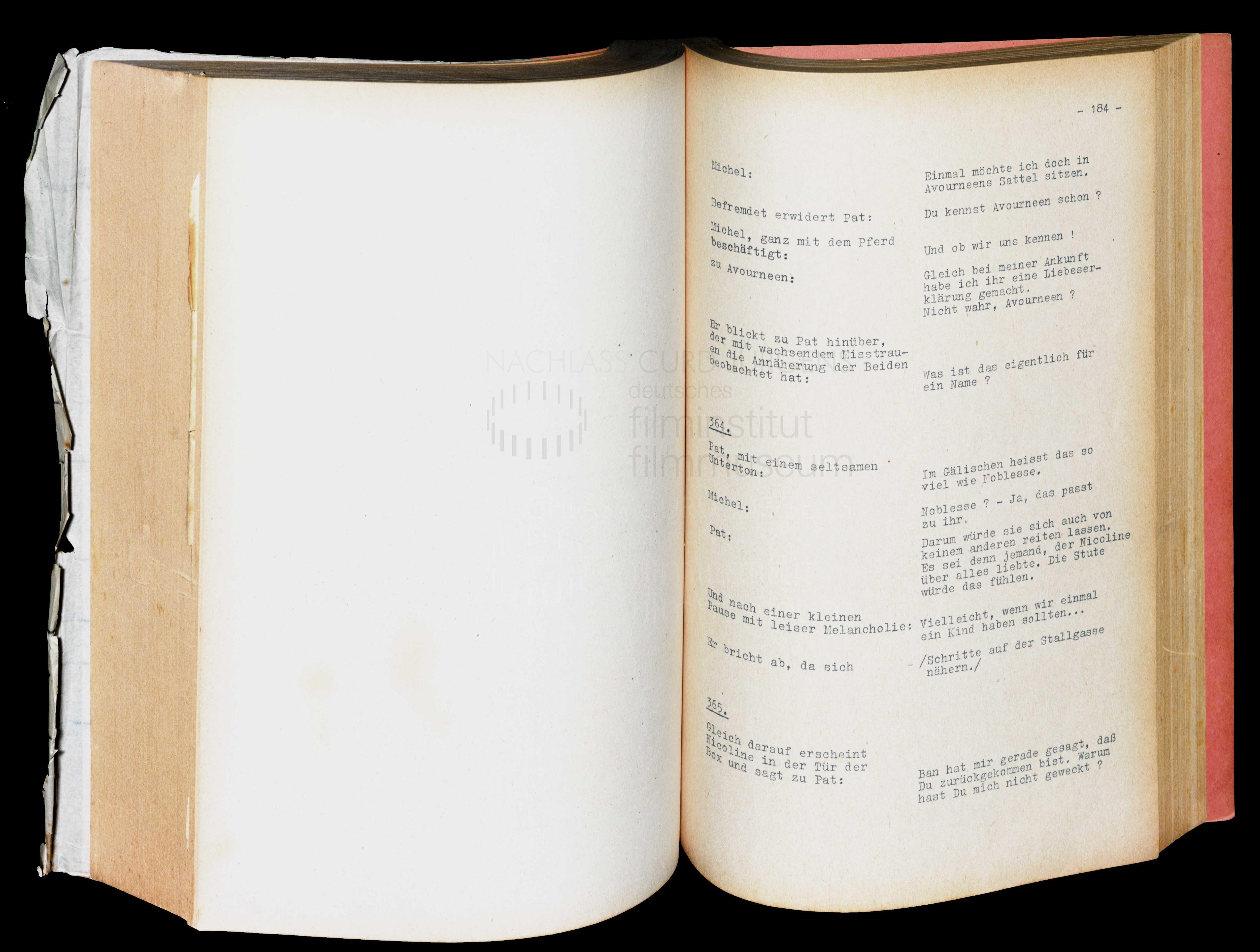 MEINES VATERS PFERDE (1953) Drehbuch (Auszug) 2