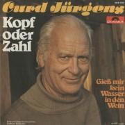 """Curd Jürgens, """"Kopf oder Zahl / Gieß mir kein Wasser in den Wein"""", Schallplattencover, 1977"""