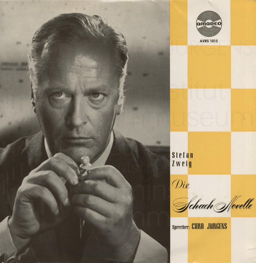 """Curd Jürgens, """"Schachnovelle"""", Schallplattencover, 1960"""