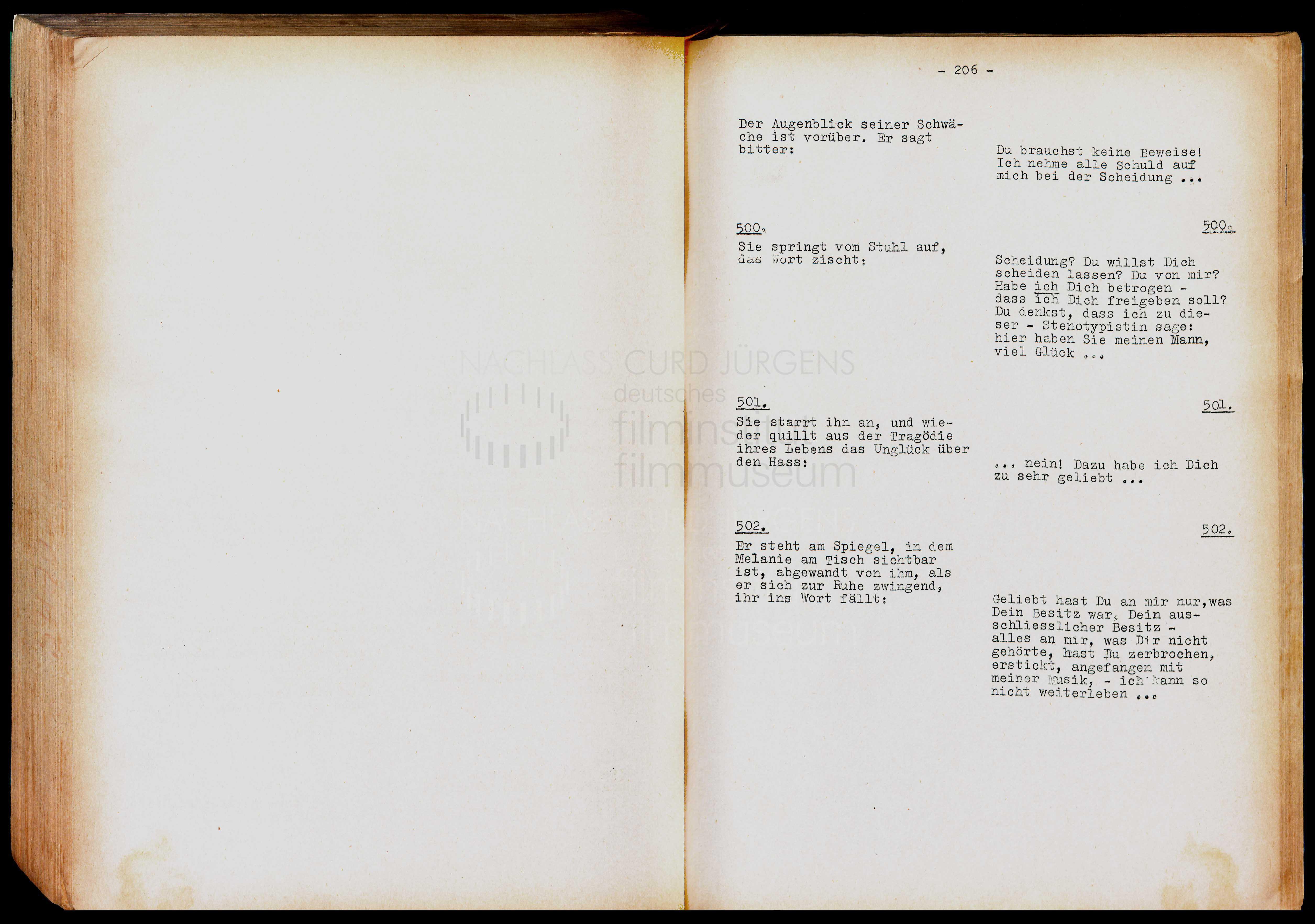 TEUFEL IN SEIDE (1956) Drehbuch (Auszug) 2