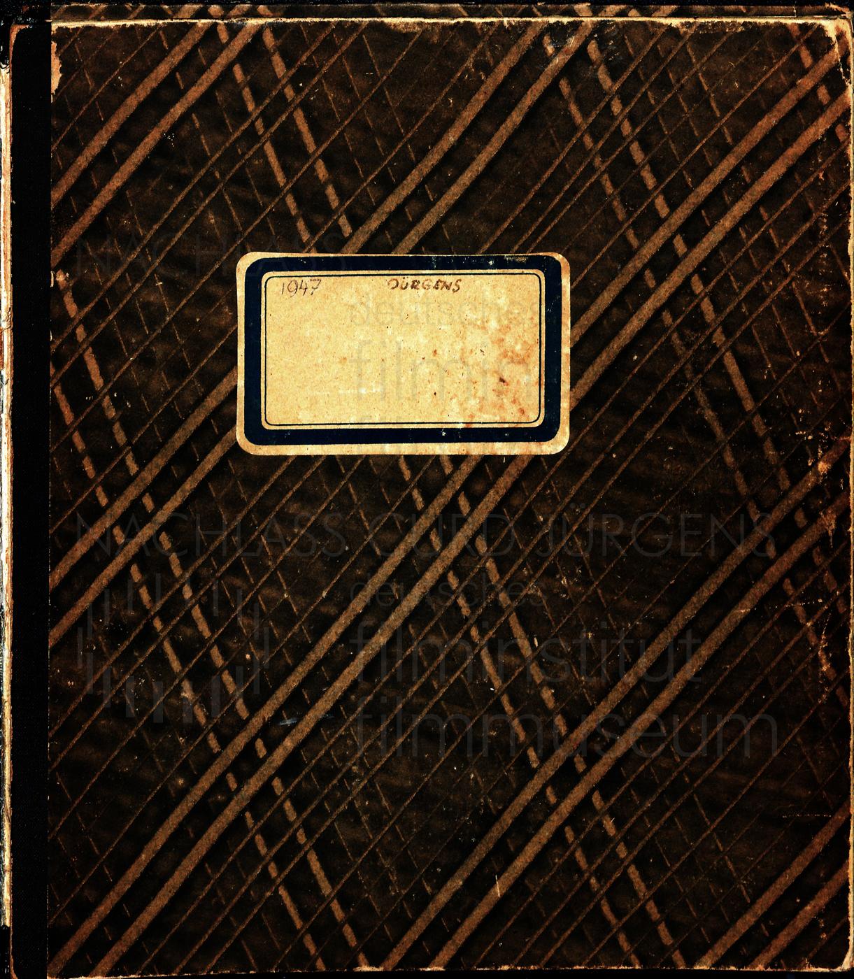 Buch mit Film- und Theaterprojekten (Auszug), 1947