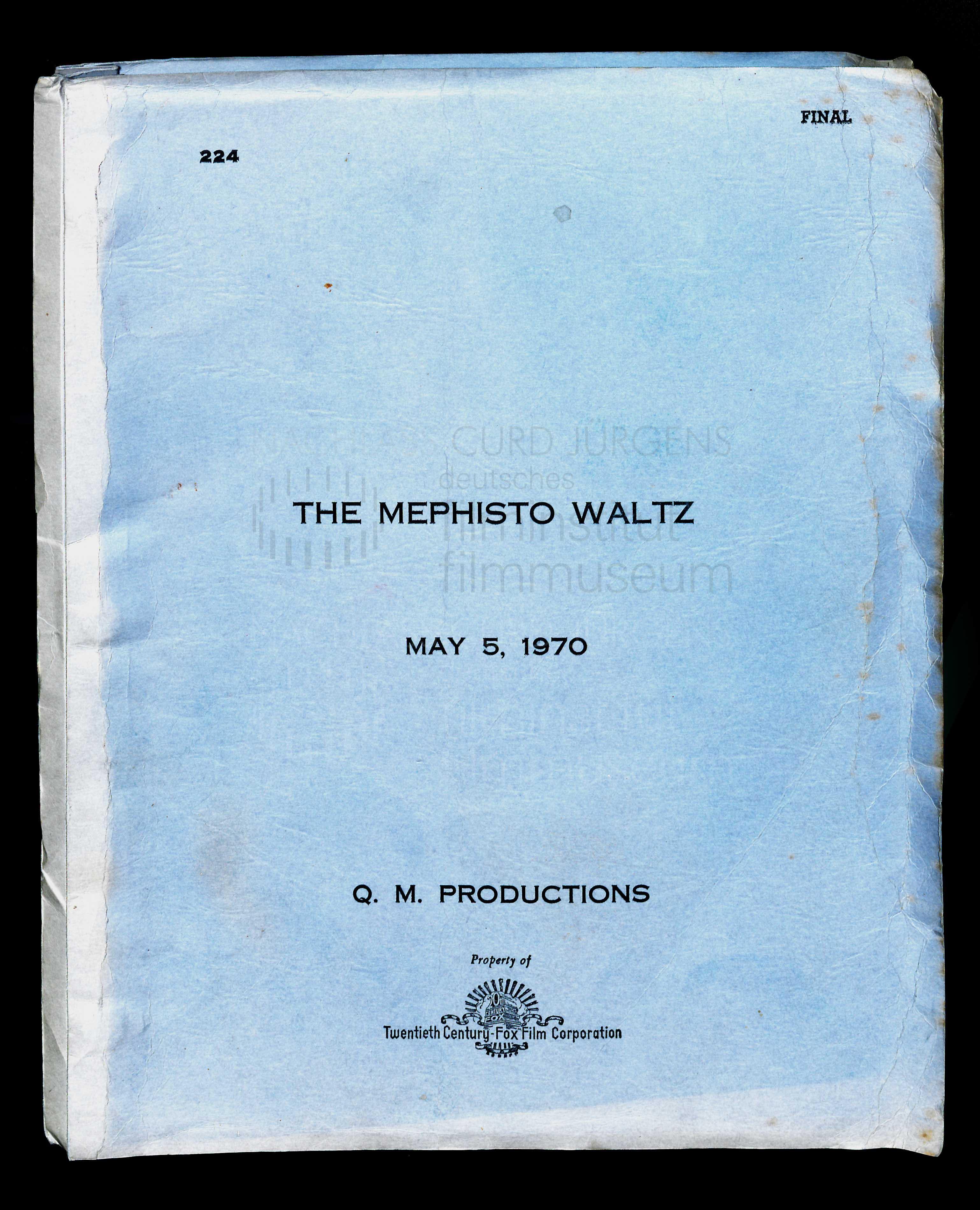 THE MEPHISTO WALTZ (1971) Drehbuch (Auszug)