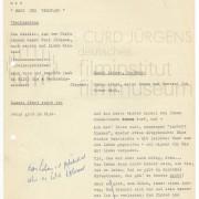 """Skript zu einer Curd Jürgens Show: """"Herz und Verstand"""""""