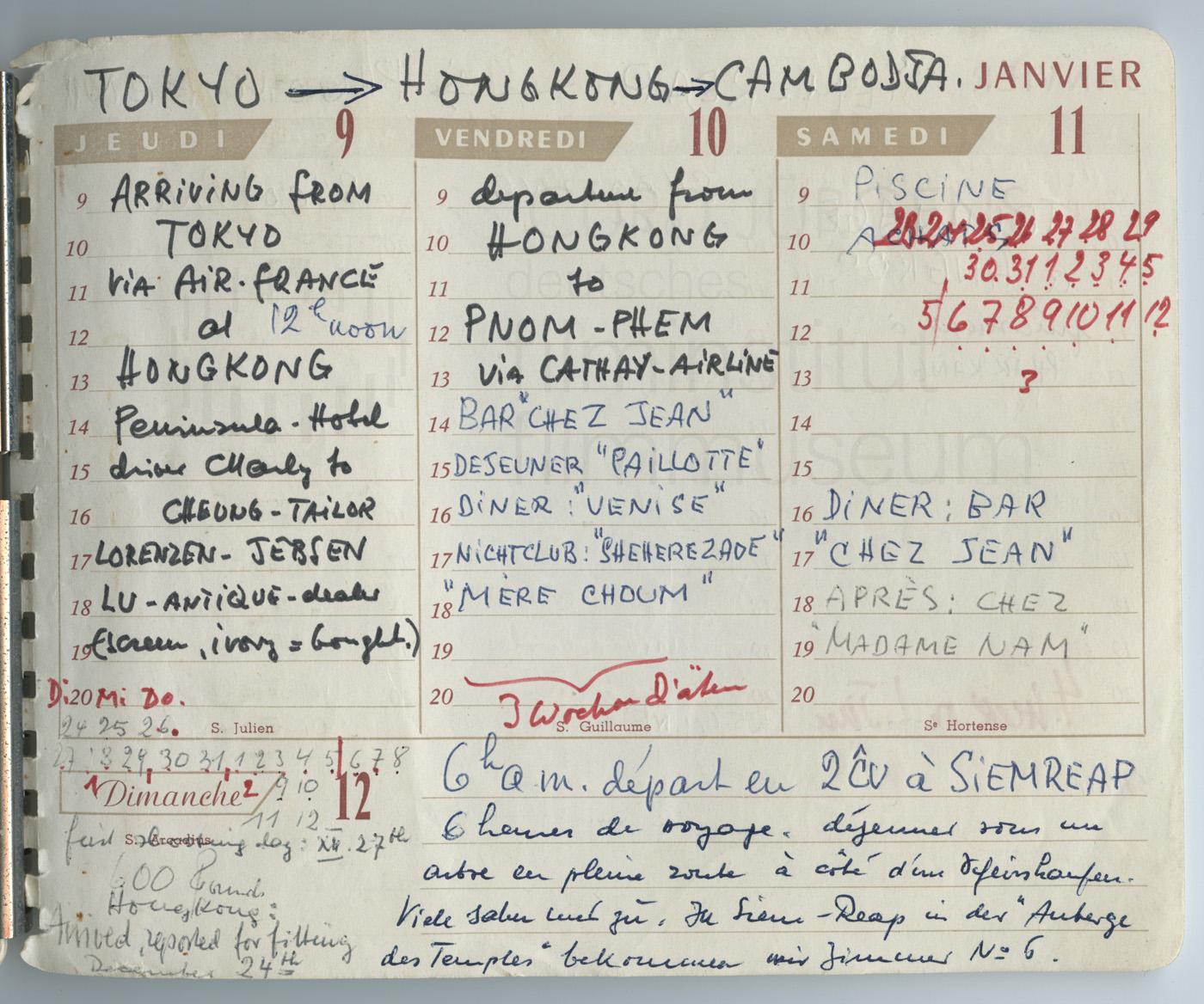 Terminkalender 9.1.-11.1.1964