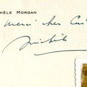 Grußkarte von Michèle Morgan
