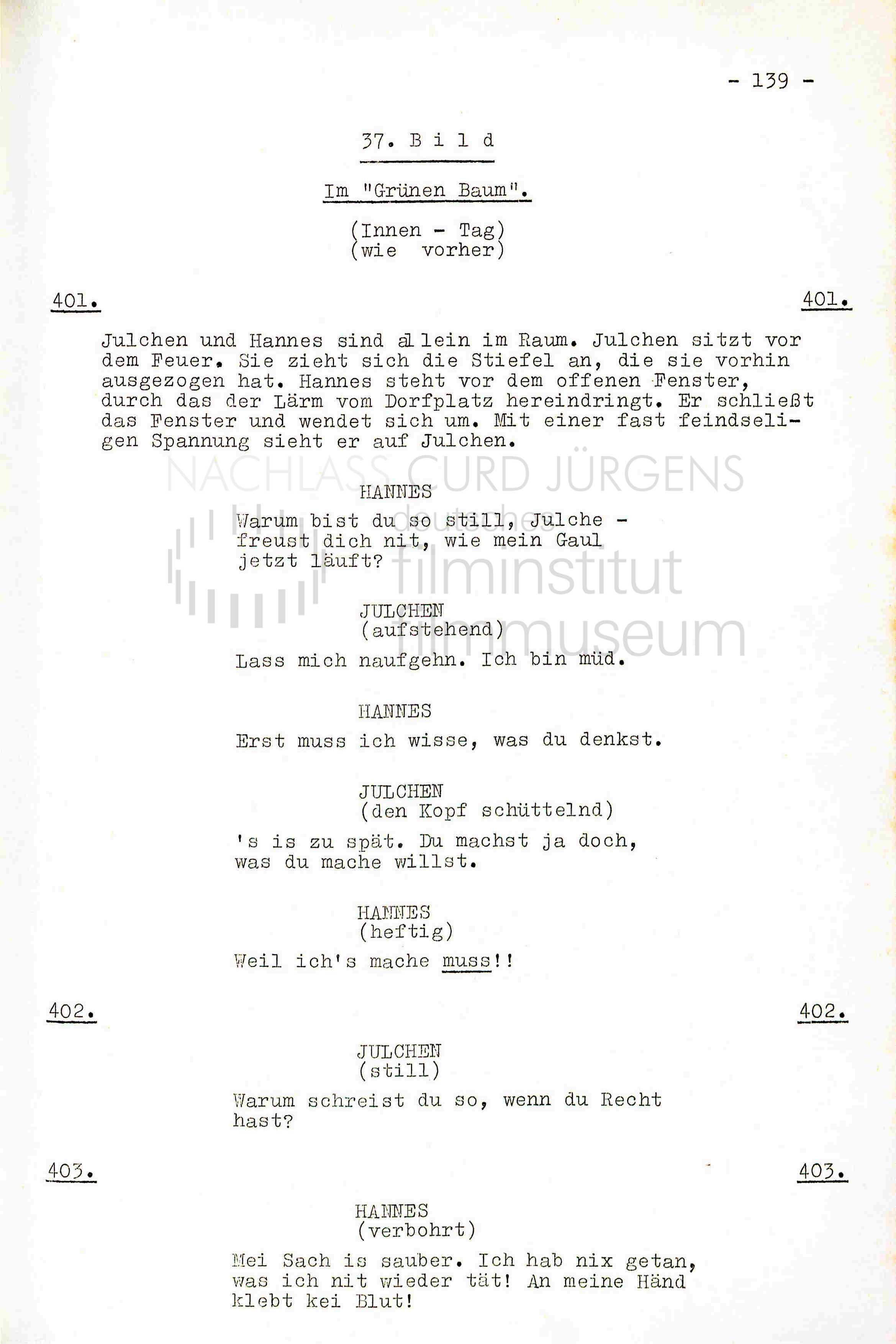 DER SCHINDERHANNES (1958) Drehbuch (Auszug) 2