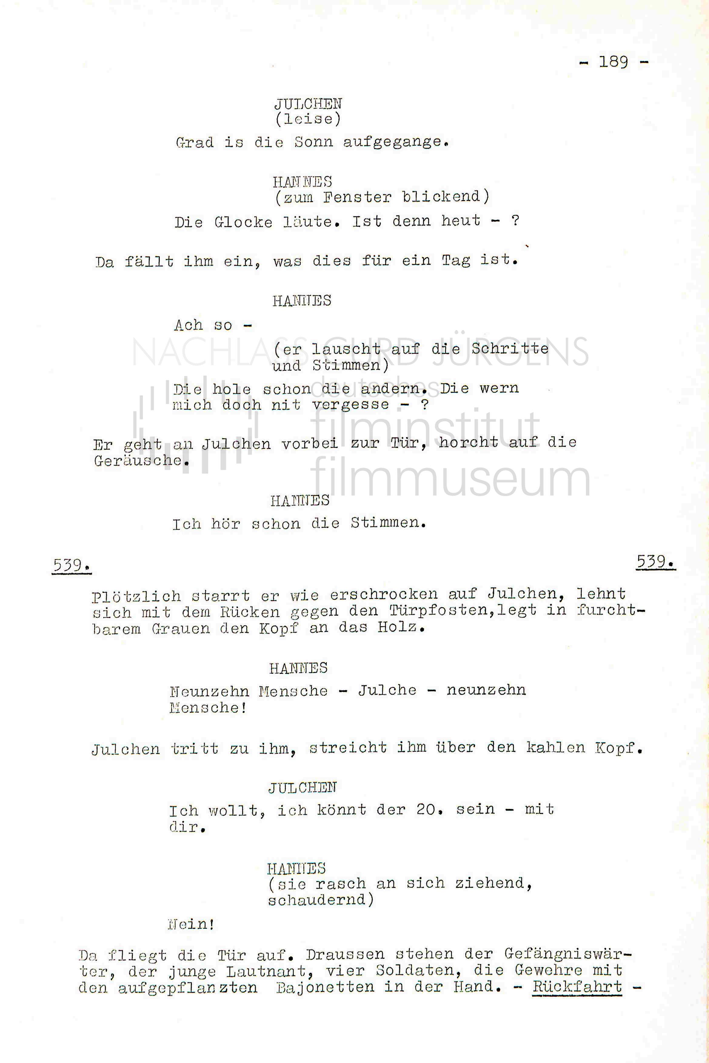 DER SCHINDERHANNES (1958) Drehbuch (Auszug) 3