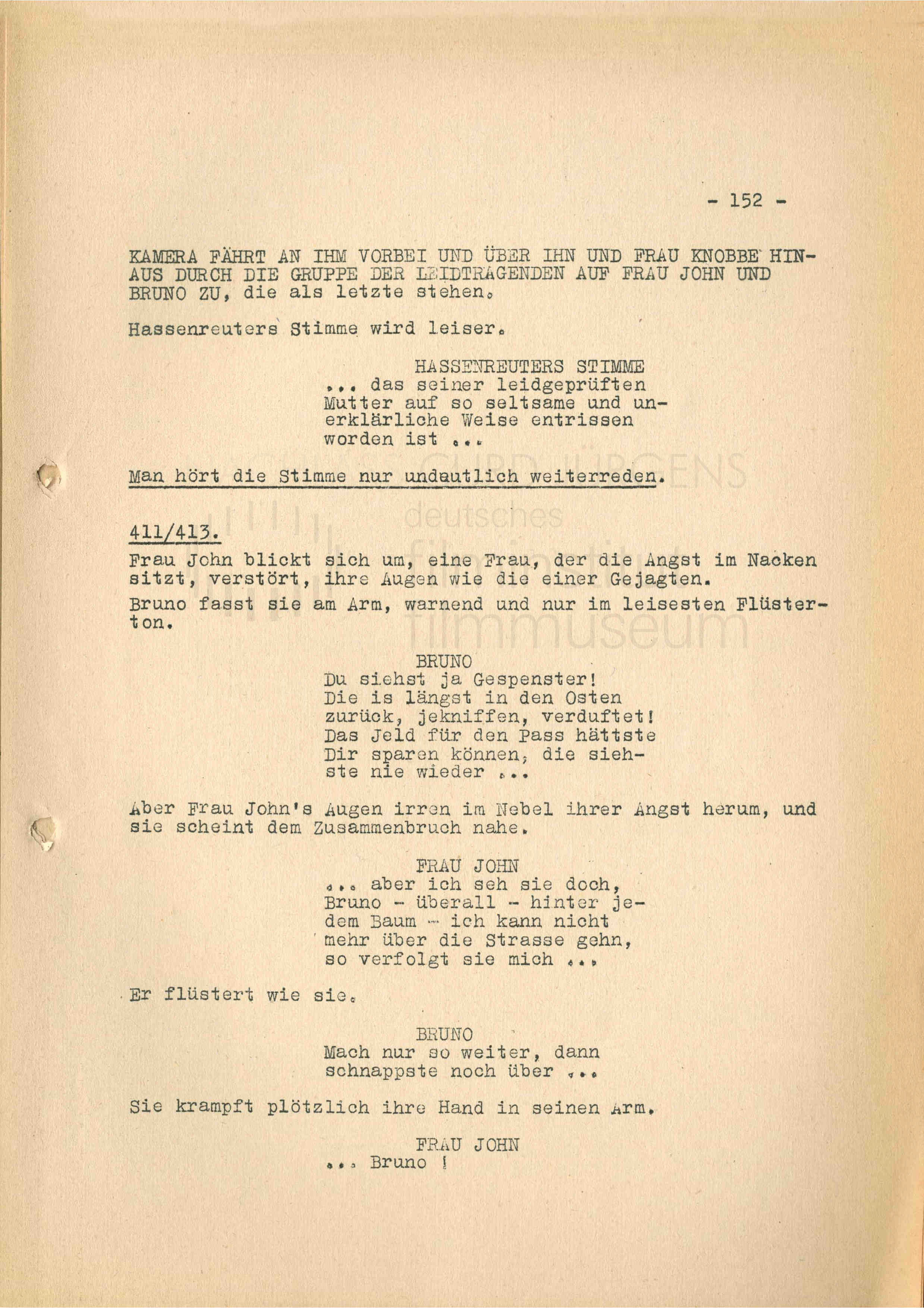 DIE RATTEN (1955) Drehbuch (Auszug)