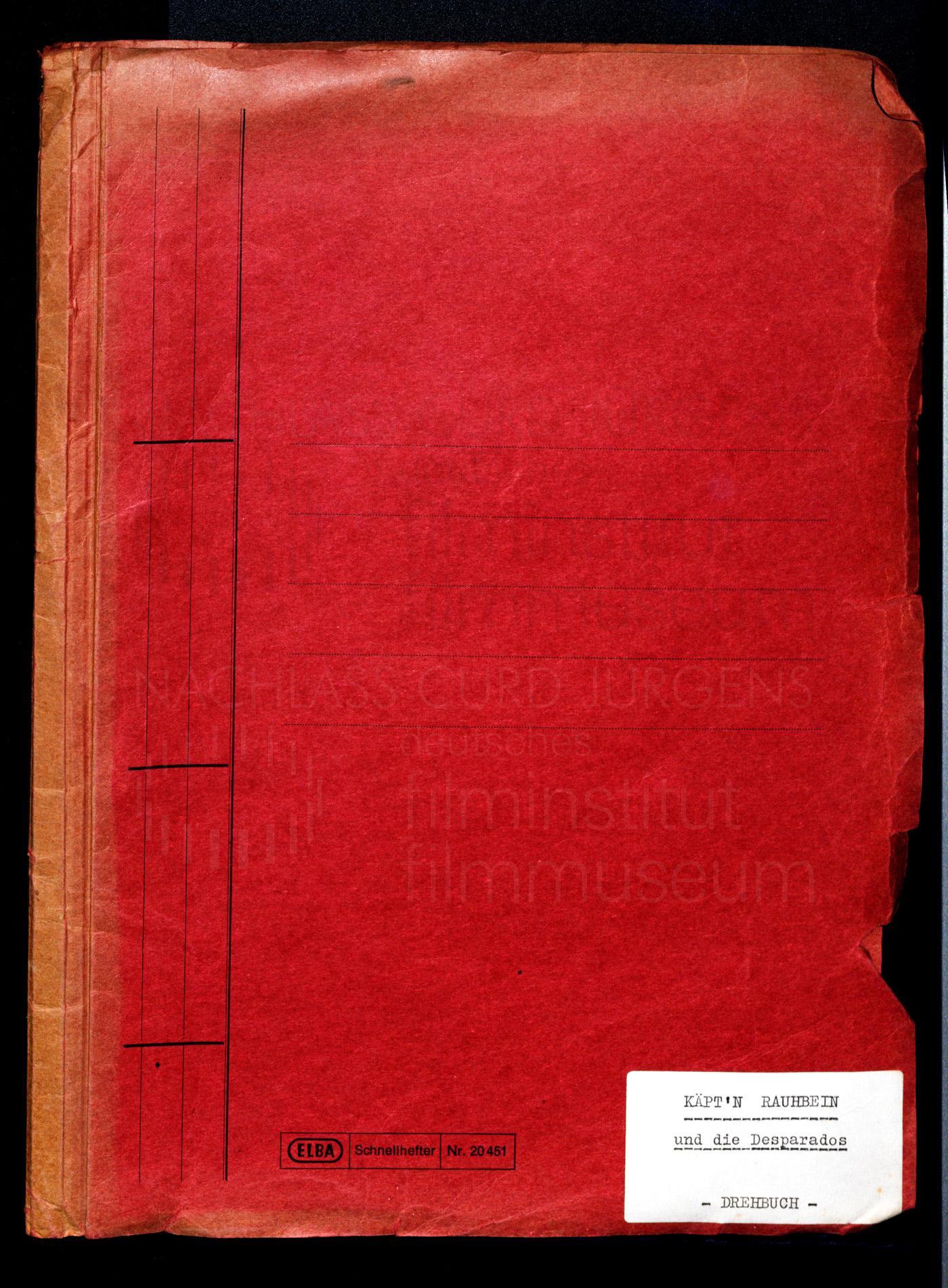 KÄPT'N RAUHBEIN AUS ST. PAULI (1971) Drehbuch (Auszug)
