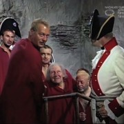 """DER SCHINDERHANNES (1958) Screenshot """"Vor der Hinrichtung"""""""