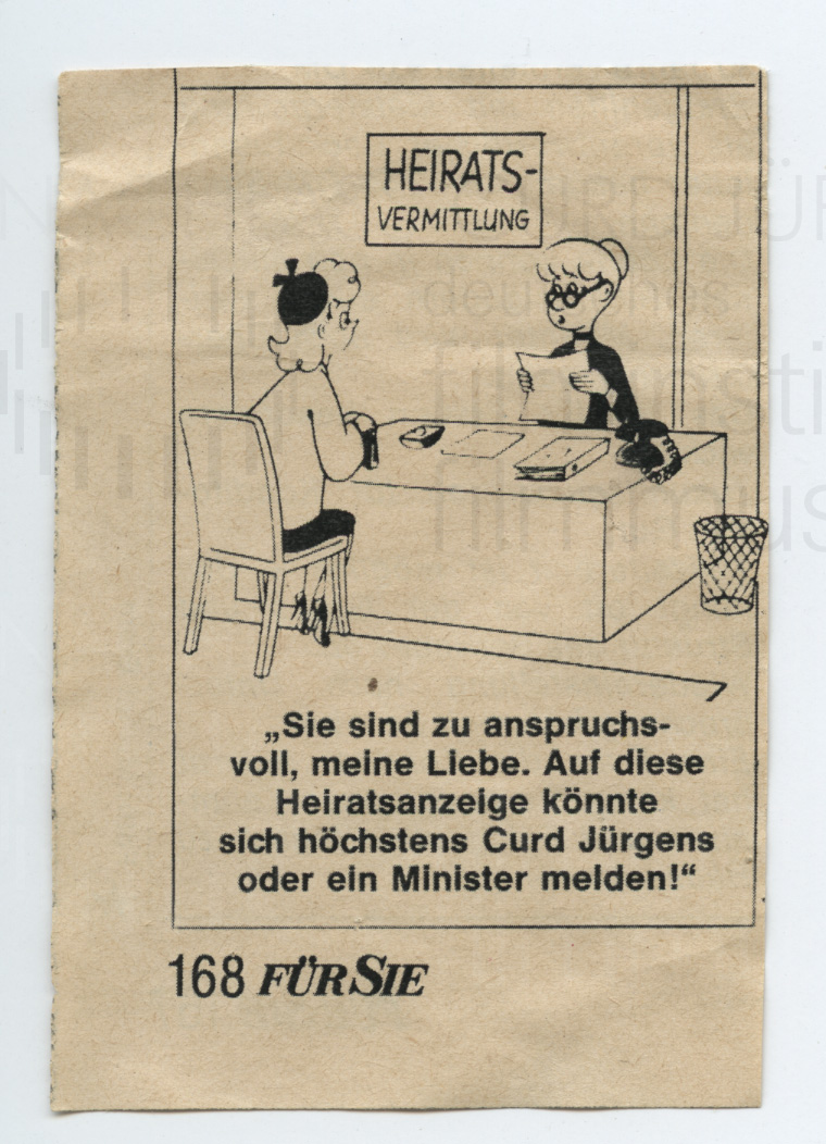 """Karikatur aus der Zeitschrift """"Für Sie"""", dt., ohne Datum"""